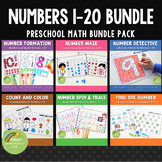 1-20 Number Formation and Recognition Worksheets BUNDLE