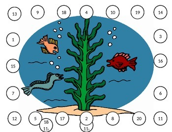 1-20 Number Recognition - Ocean Theme