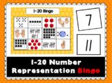 1-20 Number Representation Bingo