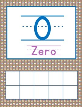 1-20 Number Sense Display