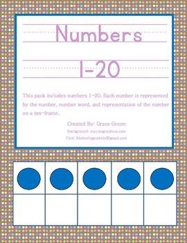 1-20 Number Sense Display