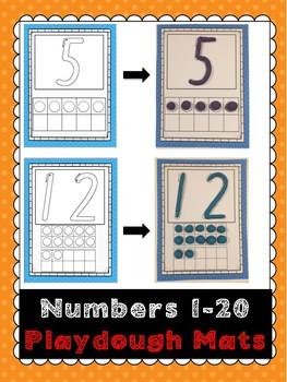 1- 20 Number Sense Playdough Mats