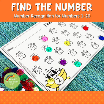 1-20 Number Recognition: Find the Number