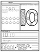 1-20 Number Tracing Activity Sheets: Space Themed BUNDLE
