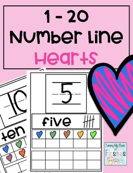 1-20 Number Train Hearts