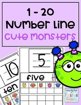 1-20 Number Train Cute Monsters