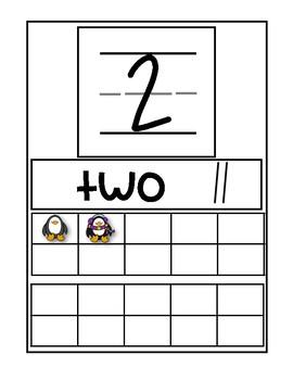 1-20 Number Train Penguins