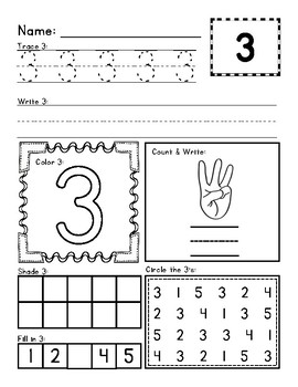 1-20 Number and Counting Activity Sheets
