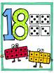 1-20 Number representation posters {ten frame, number, dice}