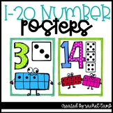 1-20 Quirky Number Posters {ten frame, number, dice}