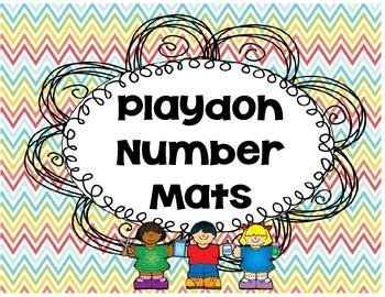 1-20 Playdoh Number Mats
