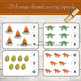 1-20 Prehistoric/Dinosaur Themed Counting Clipcards Activity