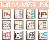 1-20 Rustic Number Line