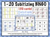 1-20 SUBITIZING BINGO: REKENREKS, TEN FRAMES, PLACE VALUE BLOCKS and NUMERALS