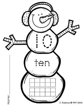 1-20 Snowmen with 10-frames