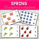 1-20 Spring Themed Counting Clipcards Activity