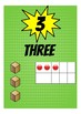 1-20 Superhero theme number posters with 10 frame