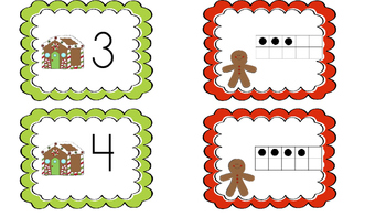 1-20 Ten Frame matching (Gingerbread man themed)