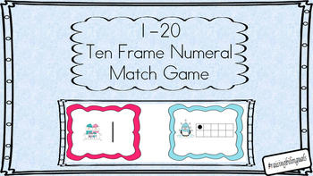 1-20 Ten Frame matching (Winter themed)