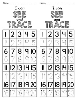 1-20 Trace or Write