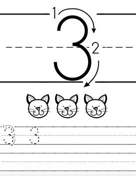 1-20 Tracing & Handwriting Worksheets B&W (Priscilla Beth @DaycareSupport)