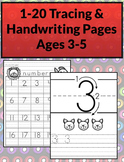 1-20 Tracing & Handwriting Worksheets B&W (Priscilla Beth
