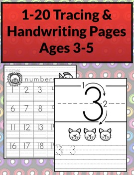 1-20 Tracing & Handwriting Worksheets B&W (Priscilla Beth