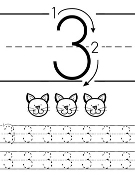 1-20 Tracing Worksheets B&W (Priscilla Beth @DaycareSupport)