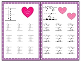 1-20 Valentine Theme Count and Trace Worksheets