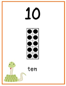1 - 20 Wall Charts with Ten Frames