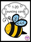1-20 counting bees