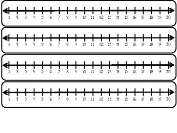 It's just a picture of Clever Number Line to 20 Printable