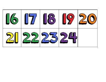 1-24 Colorful Numbers