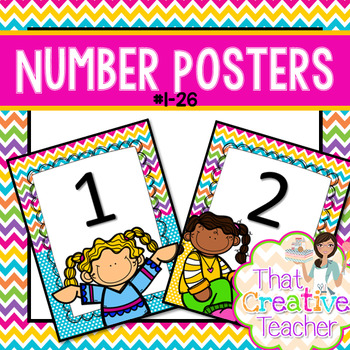 #1-26 Number Posters
