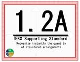 1.2A TEKS: Recognize Quantity Math Task Cards