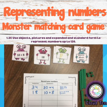 1.2C Monster matching card game