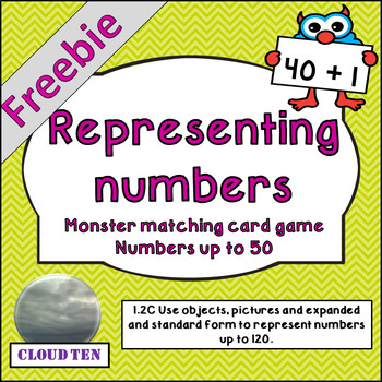 1.2C Monster matching card game FREEBIE