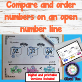 1.2F Order numbers on an open number line