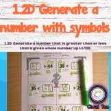 1.2D Generate a number with symbols