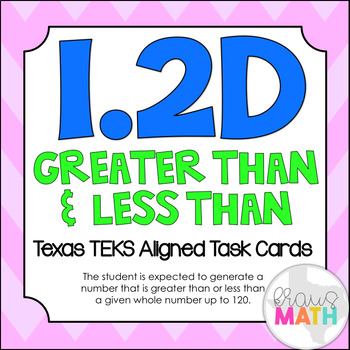1.2D: Greater Than & Less Than TEKS Aligned Task Cards! (Grade 1 Math)