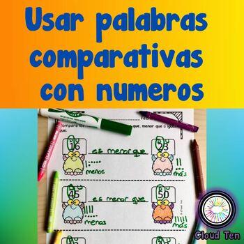 1.2E Usar palabras comparativas con numeros