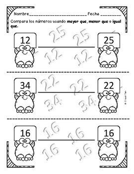 1.2E Usar palabras comparativas con numeros FREEBIE