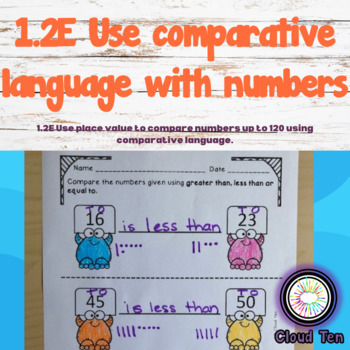 1.2E Use comparative language with numbers