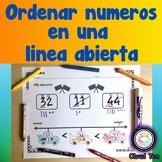 1.2F Ordenar números en una linea abierta ESPAÑOL