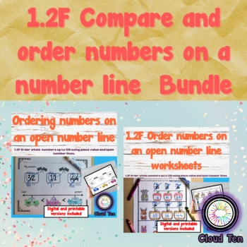 1.2F Order numbers on a number line Bundle