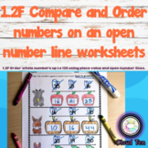1.2F Order numbers on an open number line worksheets