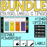 Editable Center Rotations PowerPoint Chart Bundle | 4 Stations