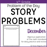4th Grade Multi-Step Word Problem of the Day Story Problems- December