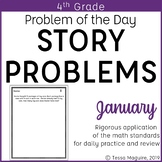 4th Grade Multi-Step Word Problem of the Day Story Problems- January