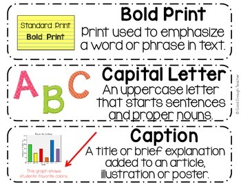1-3 ELA Vocabulary Word Wall Cards - CCSS & TEKS Aligned